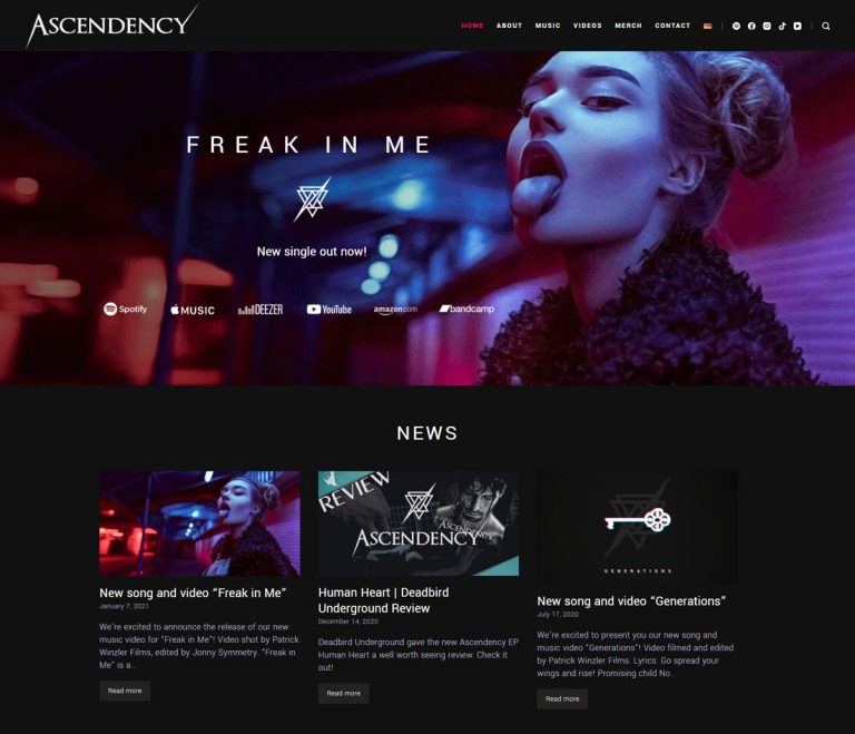 Ascendency official website